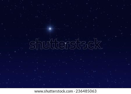 Milky way stars. - stock photo