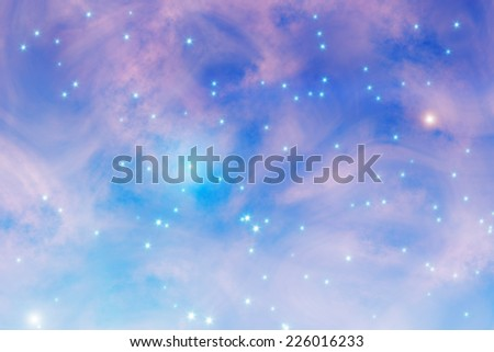 Milky way stars and nebulosity clouds.  - stock photo