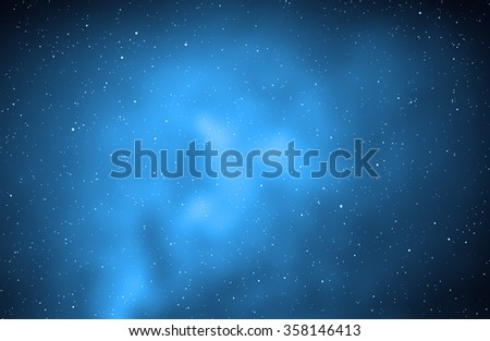 Milky way stars and star-dust in deep space / cosmos. My astronomy work. No elements of NASA or other third party. - stock photo
