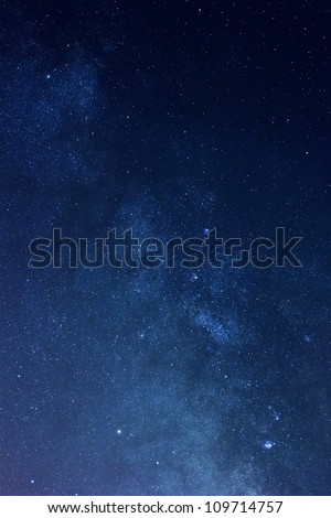 Milky way stars at night - stock photo