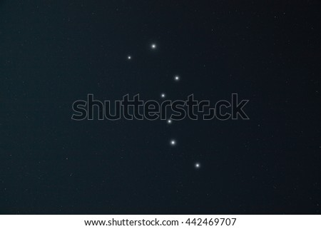 Milky way stars in deep space / cosmos.   - stock photo