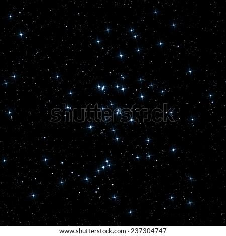 Milky way stars - on black. - stock photo