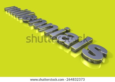 Millennials 3D Title - stock photo
