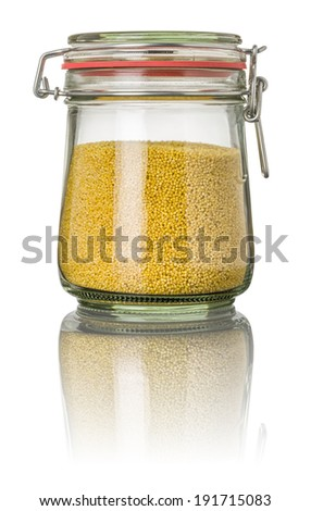 Millet in a jar - stock photo