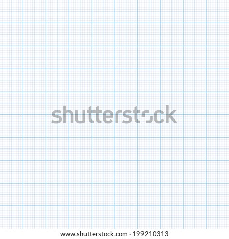 Millimeter paper one, five and ten mm grid shift,  100mm size - stock photo