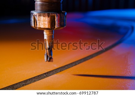 Milling-cutter closeup - stock photo