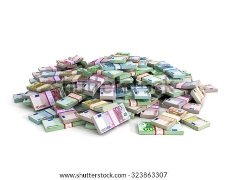 Millions of Euros - Euro Banknotes - stock photo