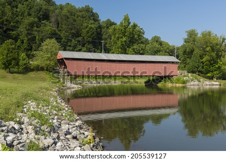Milton Covered Bridge - stock photo