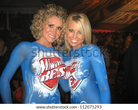 Milwaukee's Best Girls at the Milwaukee's Best Party, Playboy Mansion, Beverly Hills, CA 03-08-07 - stock photo