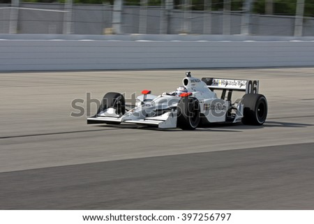 Milwaukee, Wisconsin USA - May 30, 2008 - IndyCar Racing League. Milwaukee Mile 2008. Friday practice session on track. Graham Rahal, United States - Newman/Haas/Lanigan Racing - stock photo