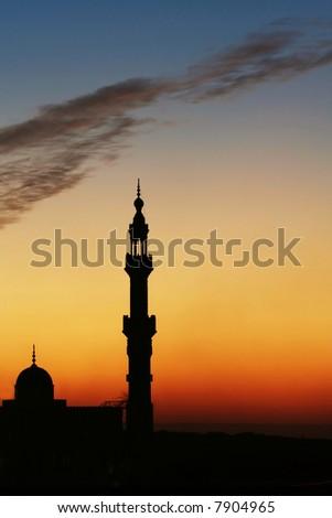 Minaret in Cairo - stock photo