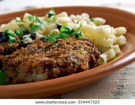 Mince  Cutlets from the liver and pork meat. - stock photo
