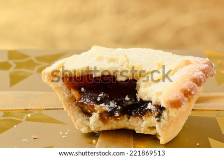 Mince pie, a traditional christmas sweet. - stock photo