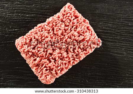 minced meat black space for text  - stock photo