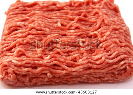 Minced meat isolated on white background - stock photo