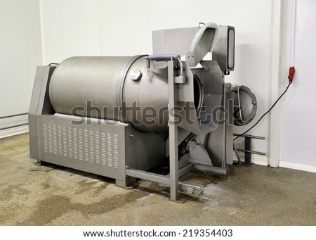 Mincer Industry, at the factory - stock photo