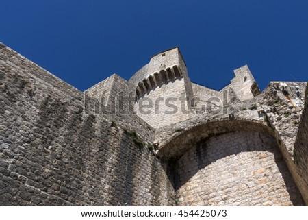 Minceta fortress on the northwest side of city walls, Dubrovnik Croatia - stock photo