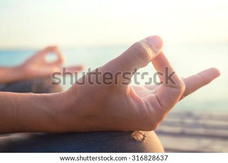 mind healthy lifestyle hand gesture - stock photo