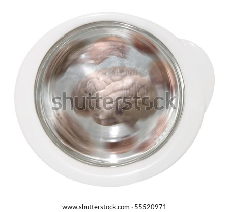 mind laundering in washing machine - stock photo