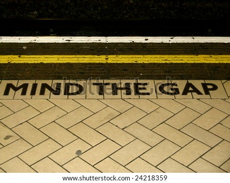 Mind The Gap, London Underground - stock photo