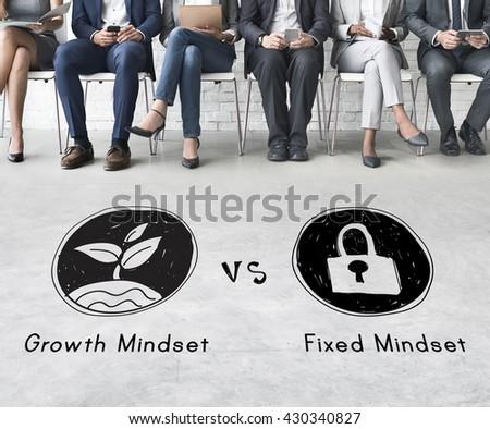 Mindset Opposite Positivity Negativity Thinking Concept - stock photo