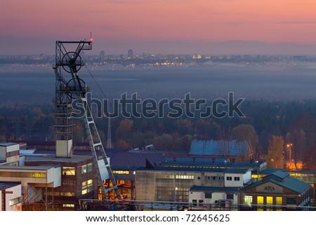 Mine shaft - stock photo