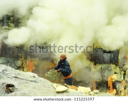 mine worker - stock photo
