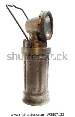 miner's old lamp - stock photo