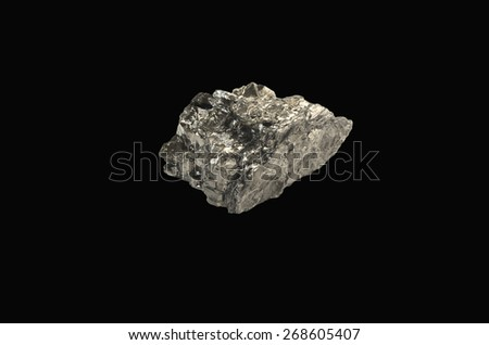 mineral anthracite - stock photo