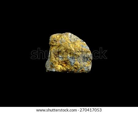 mineral chalcopyrite - stock photo