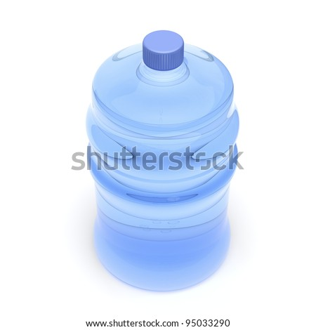 Mineral water bottle on white background - stock photo