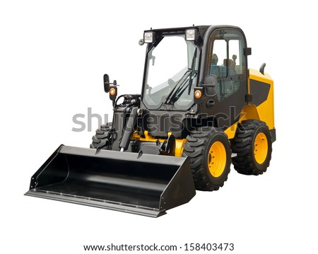 Mini bulldozer - stock photo