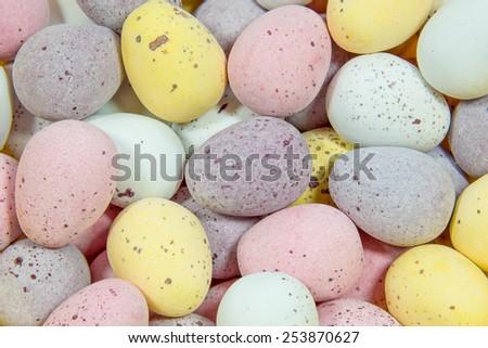 Mini Egg Sugar Coated Candy - stock photo