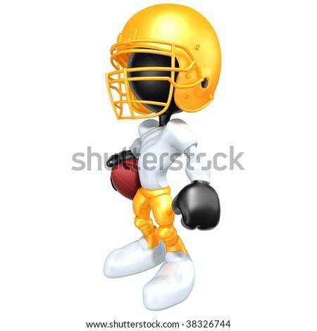 Mini Football Player - stock photo