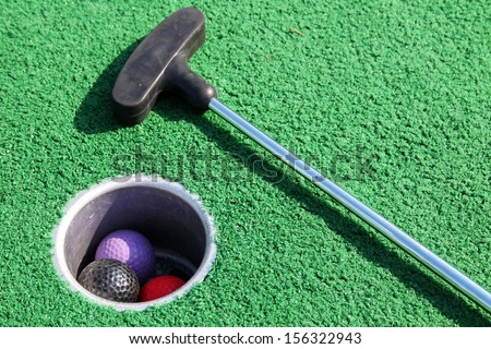 Mini-golf - stock photo