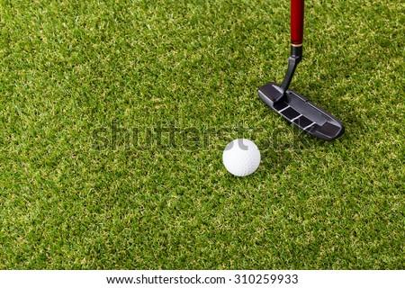Mini golf equipment - stock photo