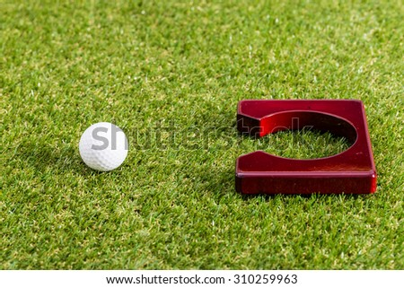 Mini golf equipment - stock photo