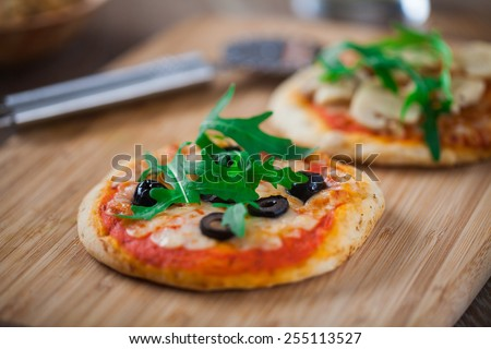 Mini Pizza - stock photo