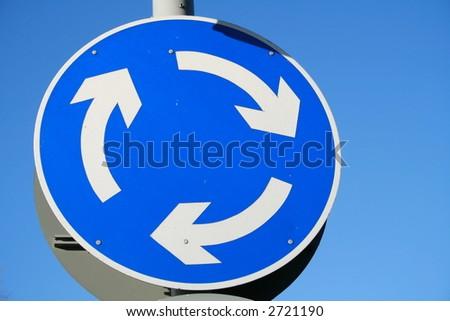 Mini Roundabout - stock photo