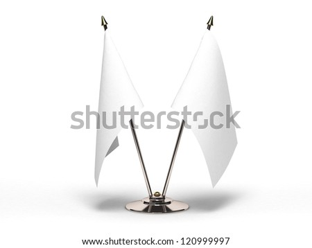 Miniature Blank Flag (Isolated with clipping path) - stock photo