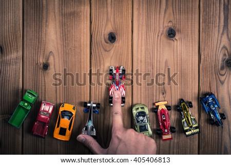 Miniature car - stock photo