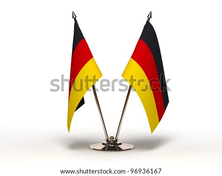 Miniature Flag of Germany  (Isolated with clipping path) - stock photo