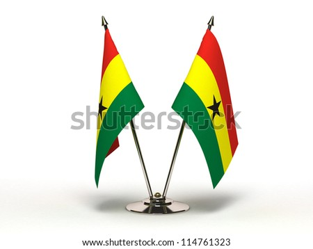 Miniature Flag of Ghana (Isolated with clipping path) - stock photo