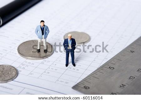 miniature man - stock photo