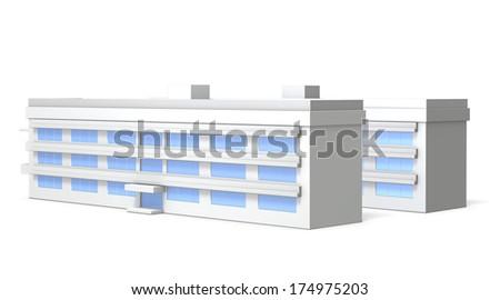 Miniature model of school  - stock photo