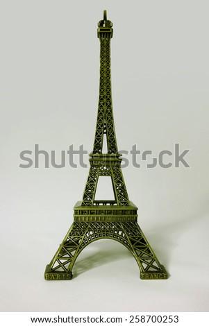 Miniature of the Eiffel Tower in Paris. Tour eiffel souvenir - stock photo