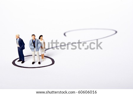 miniature people - stock photo