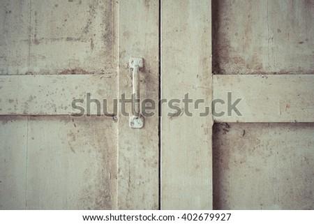 Minimalism style, Wood classic window pane , process in vintage style - stock photo