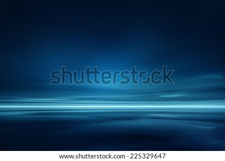 Minimalistic futuristic landscape - stock photo