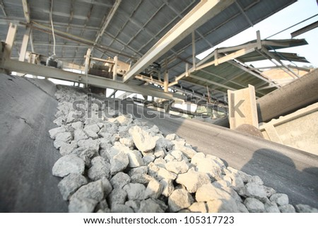 mining industry in Thailand - stock photo